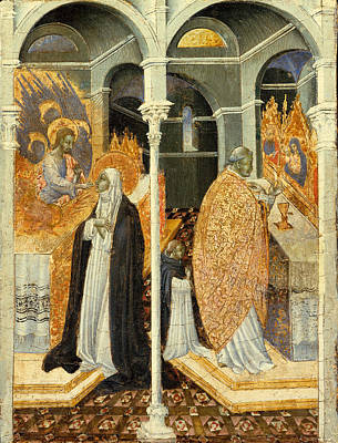 The Miraculous Communion Of Saint Catherine Of Siena Poster by Giovanni di Paolo