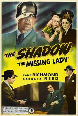 The Missing Lady The Shadow, Us Poster Poster by Everett