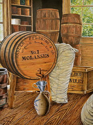 The Molasses Barrels Poster by Dave Hasler
