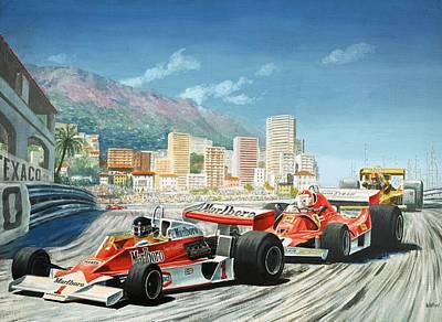 The Monaco Grand Prix Poster by English School
