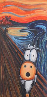 The Moooooo Poster by Jennifer Alvarez