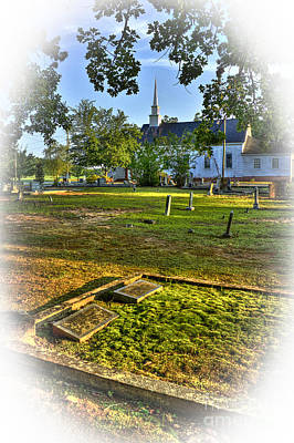 The Moss Covered Grave At Walker United Methodist Church Poster by Reid Callaway