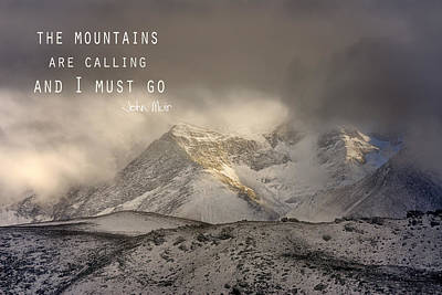 The Mountains Are Calling And I Must Go  John Muir Vintage Poster by Guido Montanes Castillo