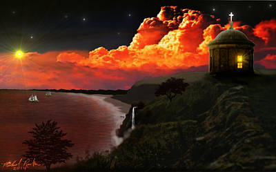 The Mussenden Temple - Ireland Poster by Michael Rucker