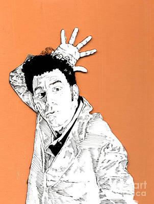 The Neighbor On Orange Poster by Jason Tricktop Matthews