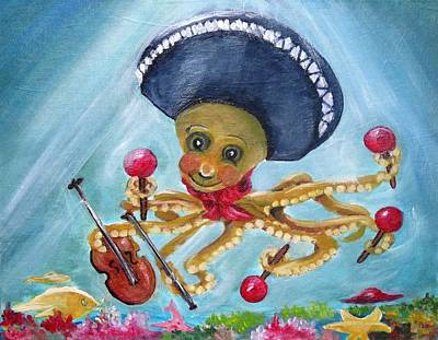 The Neptunes -- Octoband Poster by Carol Allen Anfinsen