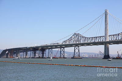 The New And The Old Bay Bridge San Francisco Oakland California 5d25364 Poster by Wingsdomain Art and Photography