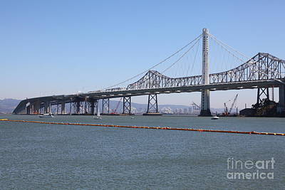 The New And The Old Bay Bridge San Francisco Oakland California 5d25365 Poster by Wingsdomain Art and Photography