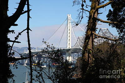 The New And The Old Bay Bridge San Francisco Oakland California 5d25415 Poster by Wingsdomain Art and Photography