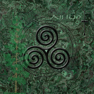 The Ogham Ailim Celtic Symbol Poster by Kandy Hurley