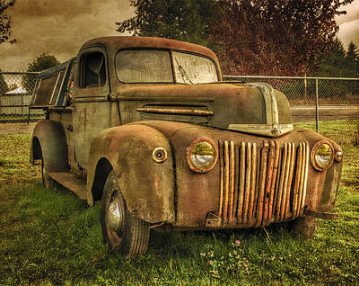 The Old Ford Pickup Truck Poster by Thom Zehrfeld