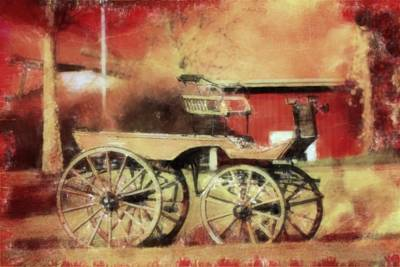 The Old Horse Cart Poster by Toppart Sweden