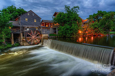 The Old Mill Poster by Anthony Heflin