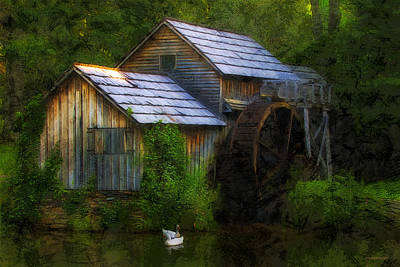 The Old Mill Poster by Ron Jones