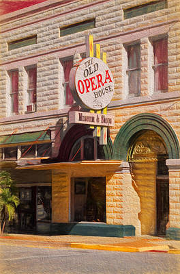 The Old Opera House Poster by Kim Hojnacki