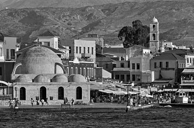 The Old Port Of Chania Poster by George Atsametakis