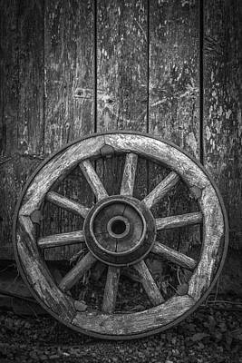 The Old Wooden Wheel Poster by Erik Brede