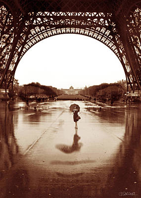 The Other Face Of Paris Poster by Gianni Sarcone