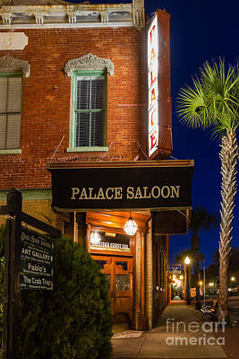 The Palace Saloon Fernandina Beach Florida Poster by Dawna  Moore Photography