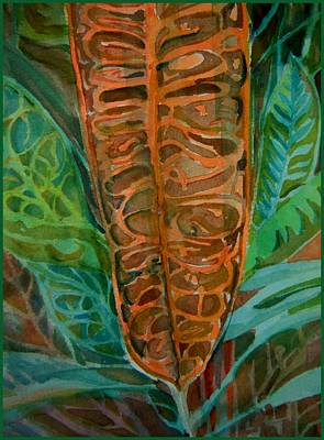The Palm Leaf Poster by Mindy Newman