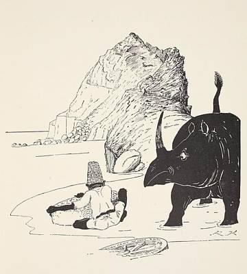 The Parsee Beginning To Eat His Cake Poster by Joseph Rudyard Kipling