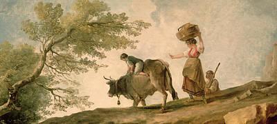 The Pasture Poster by Hubert Robert