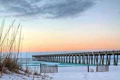 The Pensacola Beach Pier Poster by JC Findley