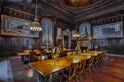 The Periodicals Room At The New York Public Library Poster by Susan Candelario