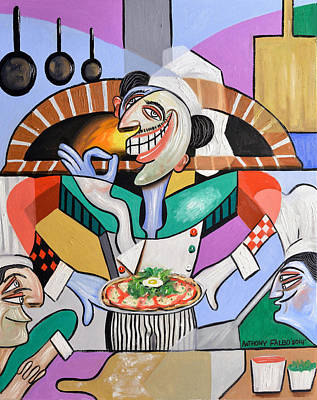 The Personal Size Gourmet Pizza Poster by Anthony Falbo