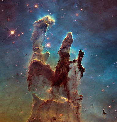 The Pillars Of Creation Poster by Nasa