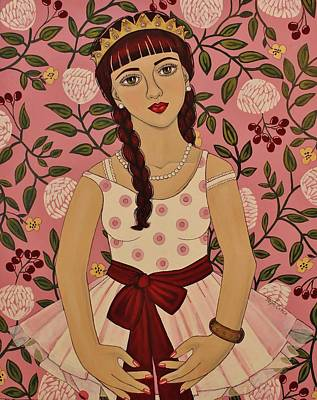 The Pink Ballerina Slips Poster by Stephanie Cohen