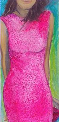 The Pink Dress Poster by Debi Starr
