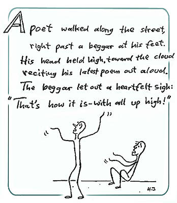 The Poet And The Beggar Poster by Hartmut Jager