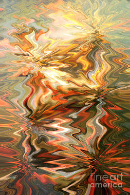 Gray And Orange Peaceful Abstract Art Poster by Carol Groenen