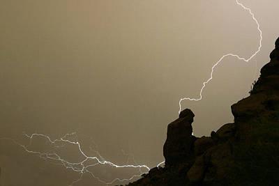 The Praying Monk Lightning Strike Poster by James BO  Insogna