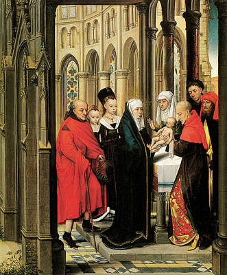 The Presentation In The Temple Poster by Hans Memling