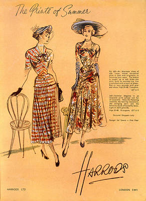 The Prints Of Summer, From Harrods Ltd Poster by English School