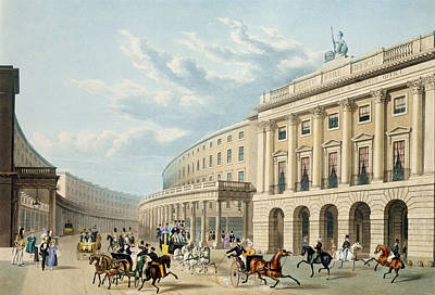 The Quadrant, Regent Street Poster by Thomas Hosmer Shepherd