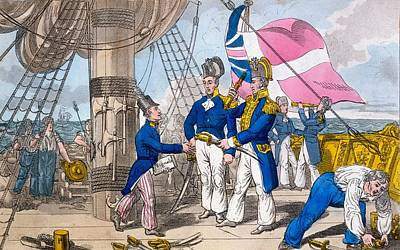 The Quarter Deck Before Battle, Plate Poster by Charles Williams