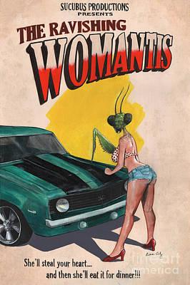 The Ravishing Womantis Poster by Richardson Comly