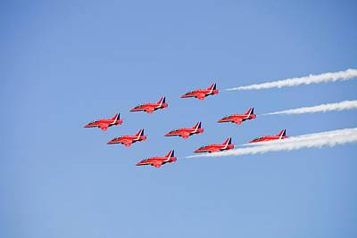 The Red Arrows Poster by Ashley Cooper