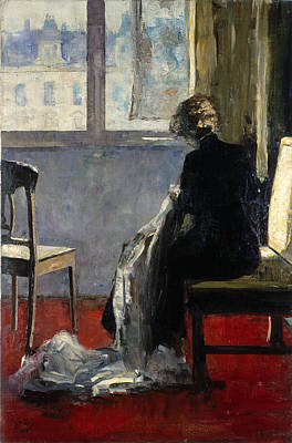 The Red Carpet, 1889 Poster by Lesser Ury