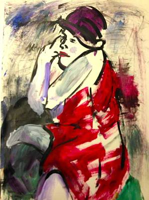 The Red Dress II Poster by Elaine Schloss