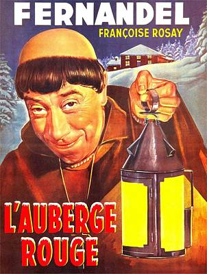 The Red Inn, Aka Lauberge Rouge, French Poster by Everett
