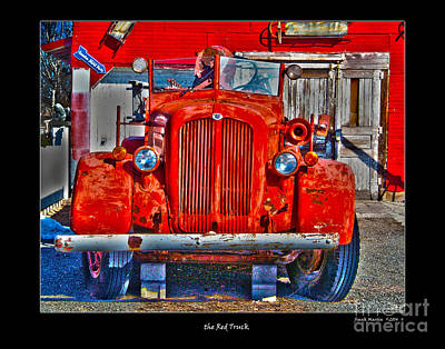 The Red Truck Poster by Frank Martin