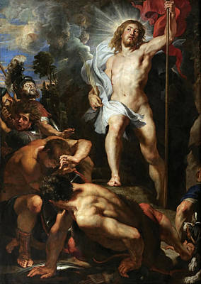 The Resurrection Of Christ.central Panel Poster by Peter Paul Rubens
