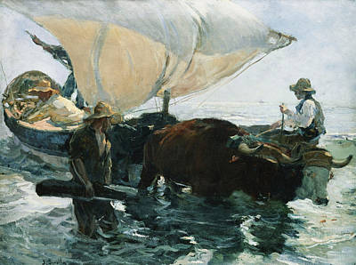The Return From Fishing Poster by Joaquin Sorolla y Bastida