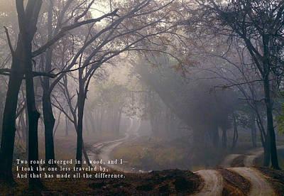The Road Taken In Life Poster by Daniel Hagerman