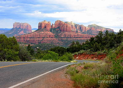 The Road To Sedona Poster by Carol Groenen