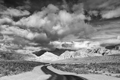 The Road To Turtlehead Peak Las Vegas Strip Nevada Red Rock Canyon Mojave Desert Poster by Silvio Ligutti